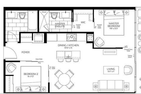 Apartment for rent at 488 University Ave Unit 5105 Toronto Ontario - MLS: C4660061