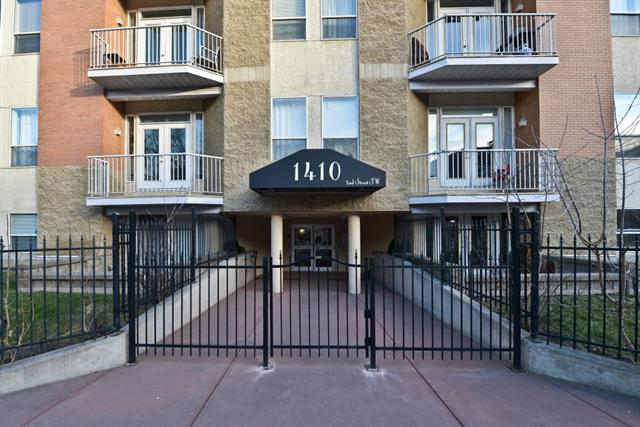 For Sale: 514 - 1410 2 Street Southwest, Calgary, AB | 2 Bed, 2 Bath Condo for $299,900. See 18 photos!