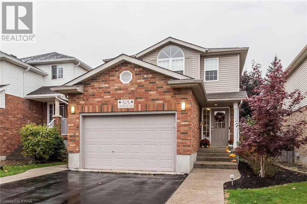 House for sale at 515 Chesapeake Cres Waterloo Ontario - MLS: 40036561