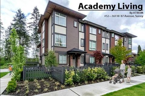 Townhouse for sale at 16118 87 Ave Unit 52 Surrey British Columbia - MLS: R2351598