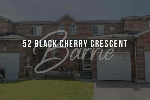 Townhouse for sale at 52 Black Cherry Cres Barrie Ontario - MLS: S4782886
