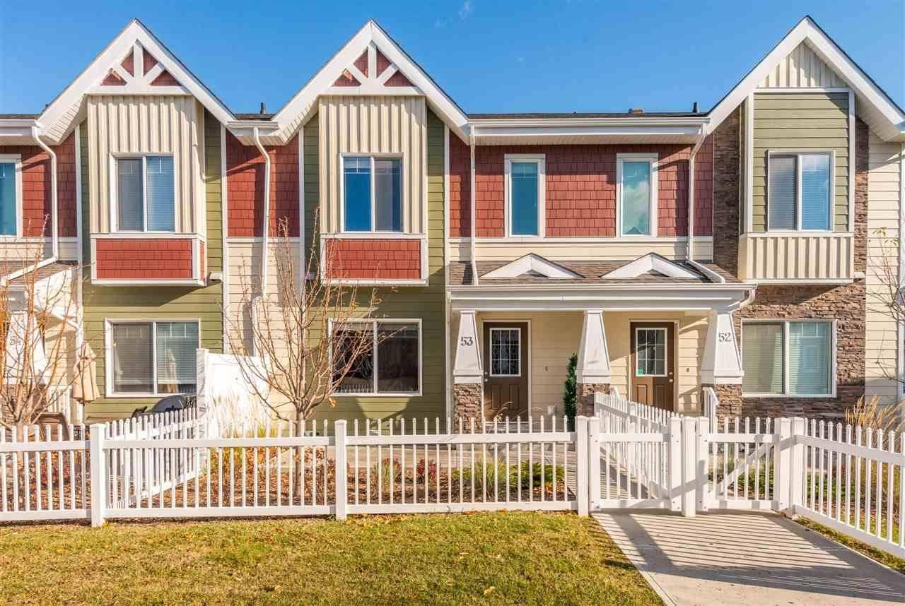 Townhouse for sale at 2003 Rabbit Hill Rd Nw Unit 53 Edmonton Alberta - MLS: E4195457