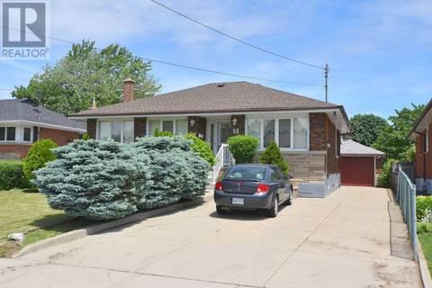 House for sale at 53 Elliott Ave Hamilton Ontario - MLS: X4489931