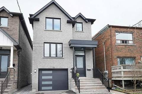House for sale at 53 Macdonald St Toronto Ontario - MLS: W4443404