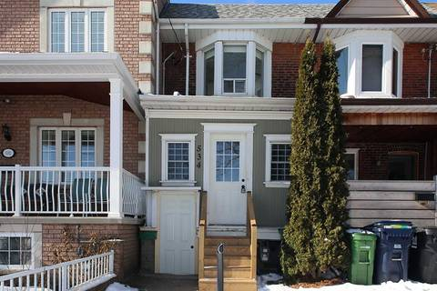 Townhouse for rent at 534 Brock Ave Toronto Ontario - MLS: C4693895