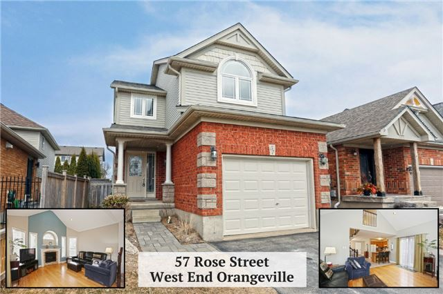 For Sale: 57 Rose Street, Orangeville, ON | 3 Bed, 3 Bath House for $604,900. See 20 photos!