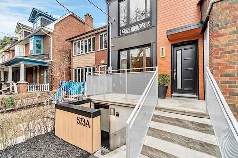 Townhouse for rent at 573 Palmerston Ave Toronto Ontario - MLS: C4600912