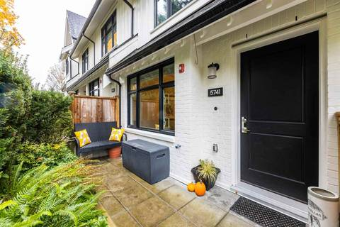 Townhouse for sale at 5741 St George St Vancouver British Columbia - MLS: R2414625