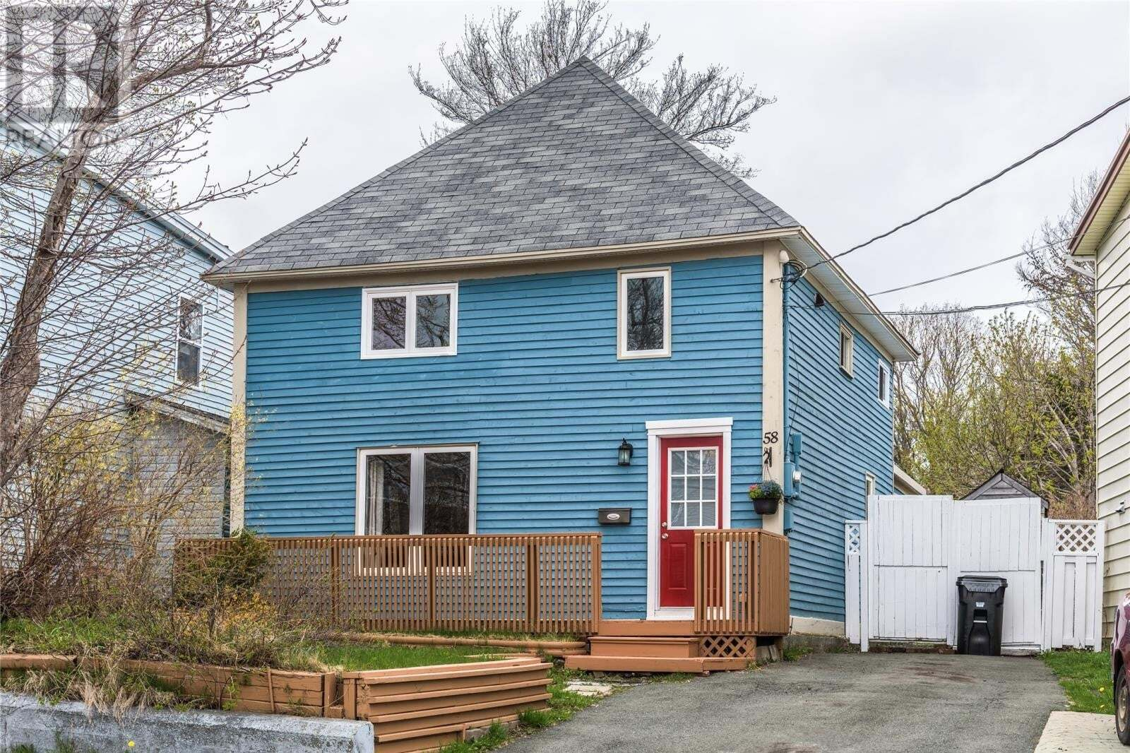 House for sale at 58 Freshwater Rd St. John's Newfoundland - MLS: 1214175