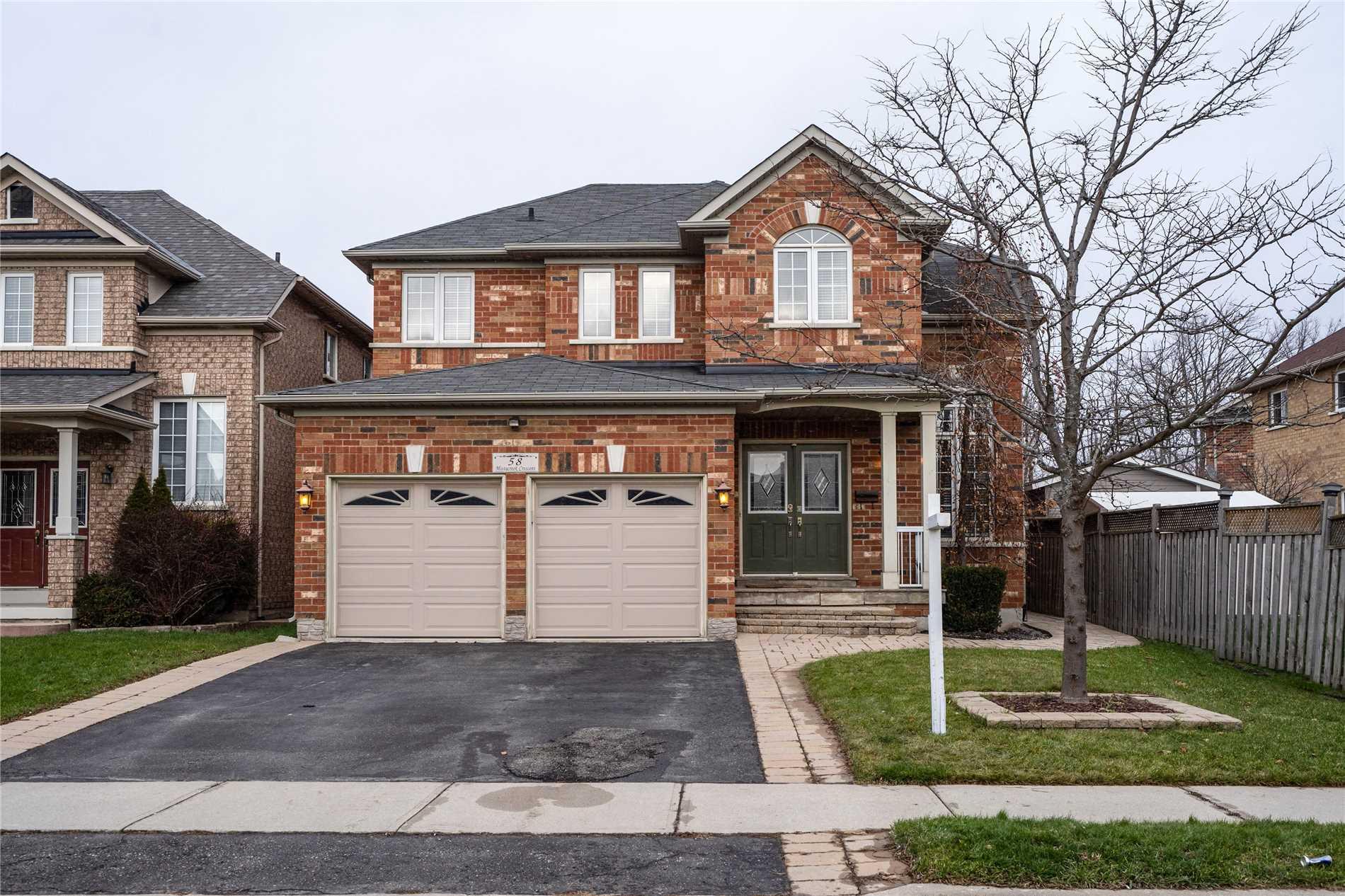 House for sale at 58 Mistycreek Crescent Brampton Ontario - MLS: W4312583