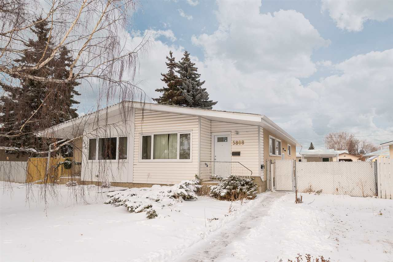 For Sale: 5808 91 Avenue, Edmonton, AB | 4 Bed, 2 Bath Townhouse for $309,900. See 29 photos!
