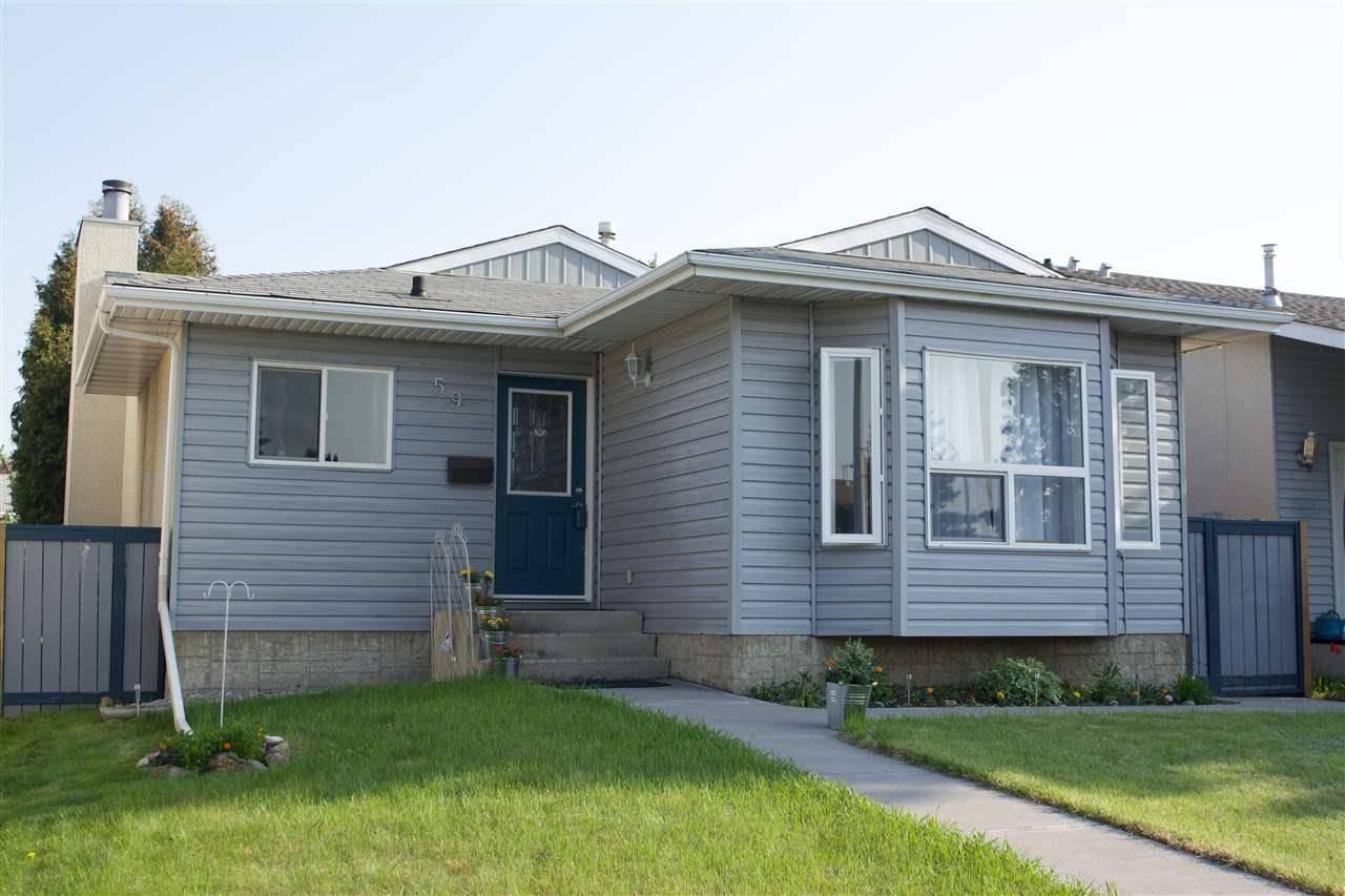 House for sale at 59 Kiniski Cres Nw Edmonton Alberta - MLS: E4142134