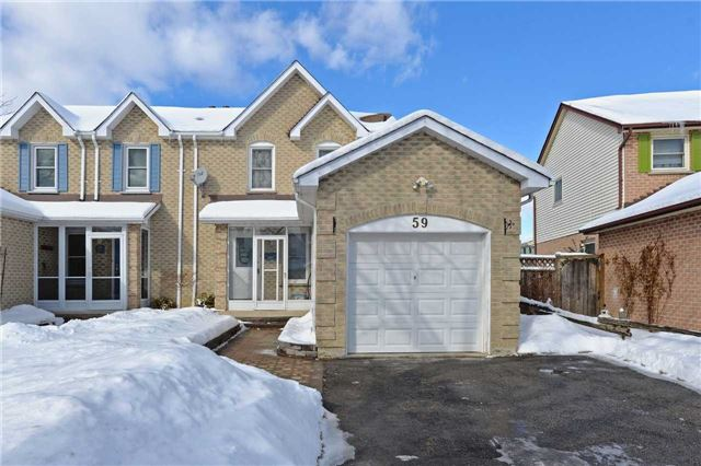 For Sale: 59 Kipling Crescent, Ajax, ON | 3 Bed, 2 Bath Townhouse for $480,000. See 19 photos!