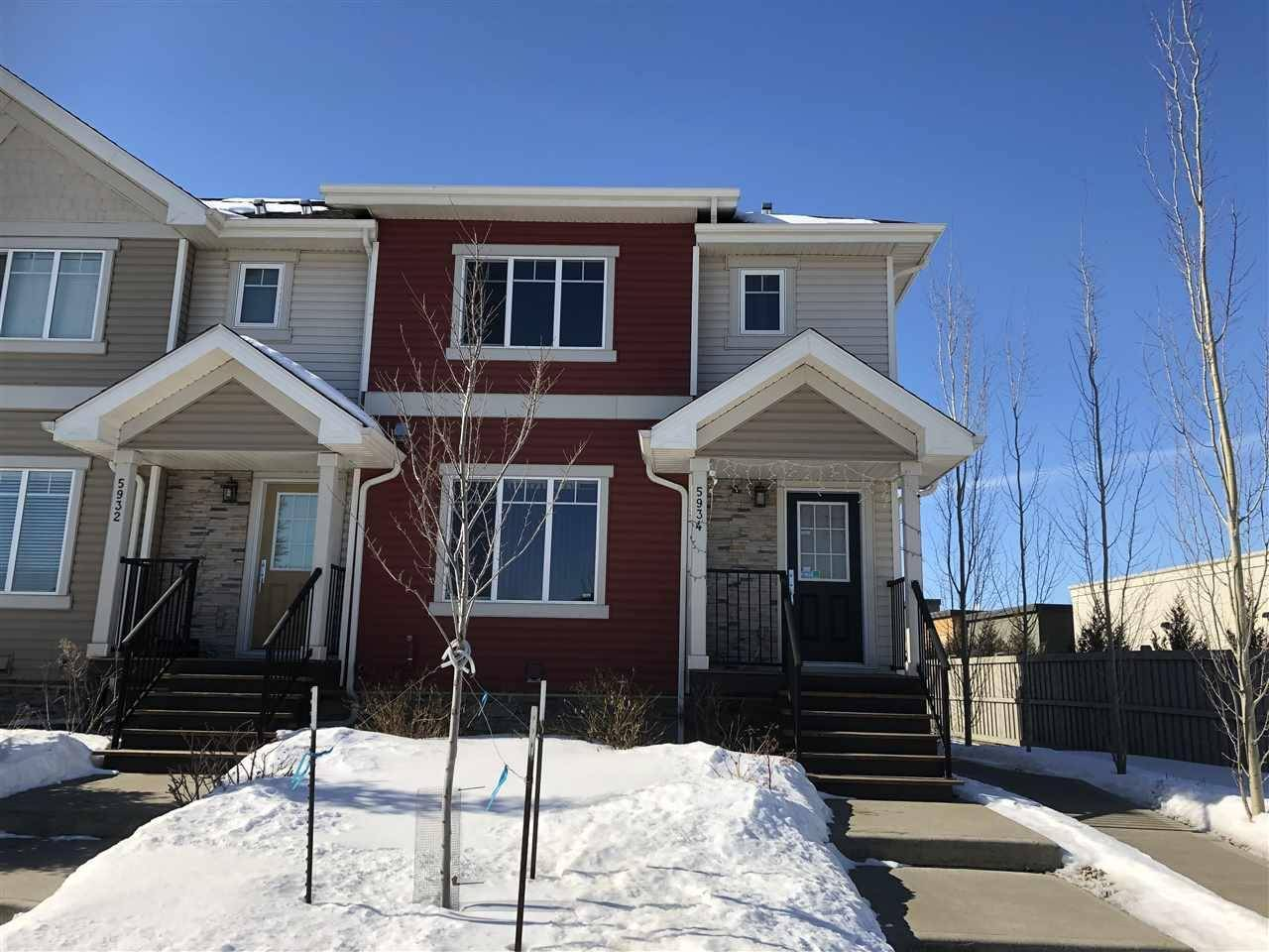 Townhouse for sale at 5934 Mullen Wy Nw Edmonton Alberta - MLS: E4153032