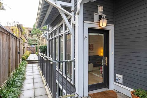 Townhouse for sale at 1540 Grant St Unit 6 Vancouver British Columbia - MLS: R2352582
