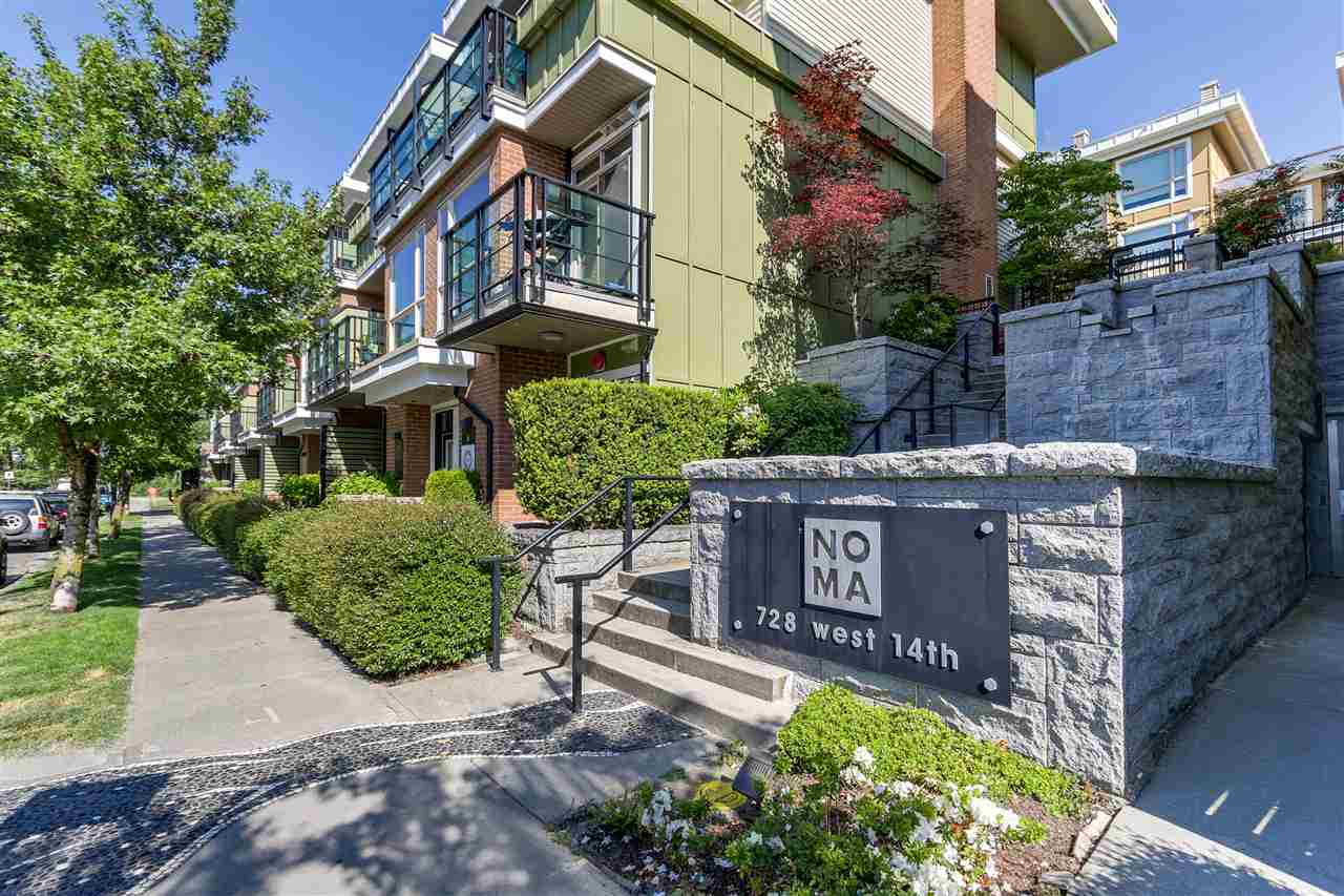 For Sale: 6 - 728 West 14th Street, North Vancouver, BC | 1 Bed, 2 Bath Townhouse for $619,000. See 16 photos!