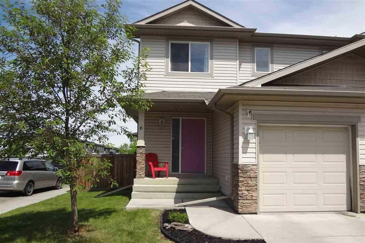 Townhouse for sale at 85 Spruce Village Dr W Unit 6 Spruce Grove Alberta - MLS: E4201976