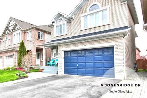 House for sale at 6 Jonesridge Dr Ajax Ontario - MLS: E4477689