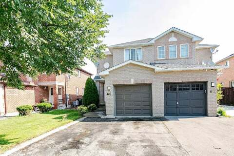 Townhouse for sale at 60 Saddletree Tr Brampton Ontario - MLS: W4863510