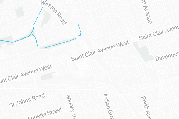 Map Of 603 Keele Street Toronto