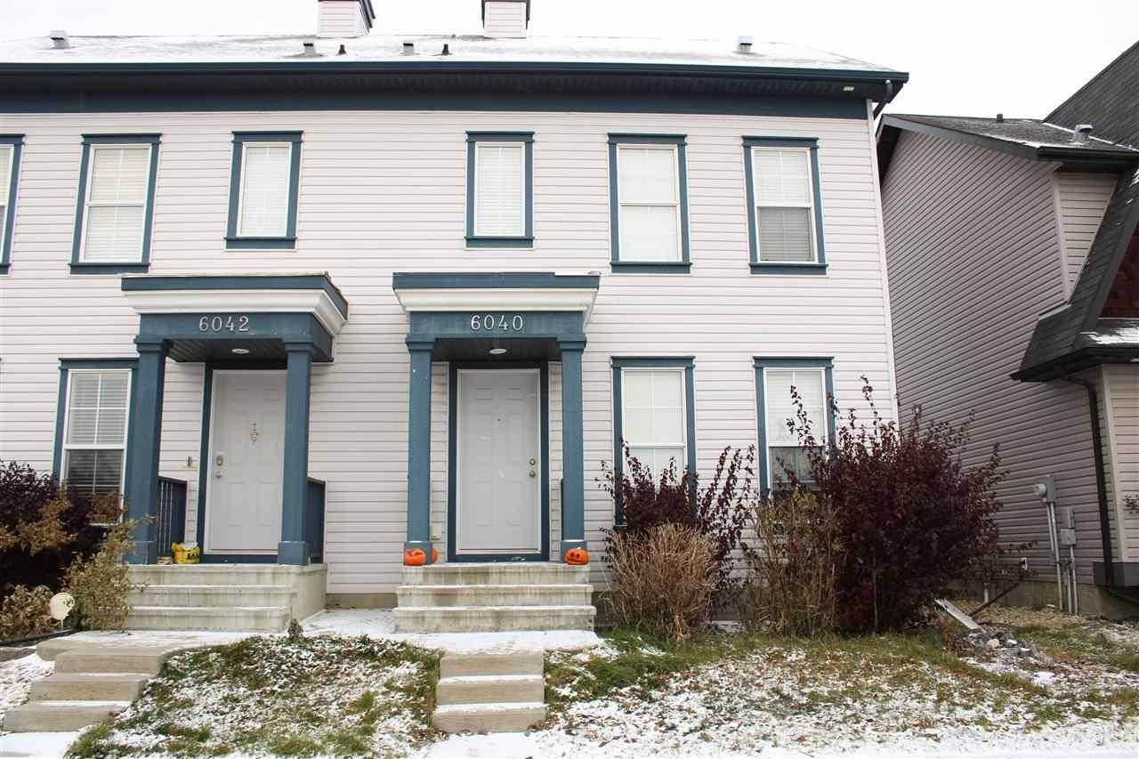 Townhouse for sale at 6040 South Terwillegar Blvd Nw Edmonton Alberta - MLS: E4178562