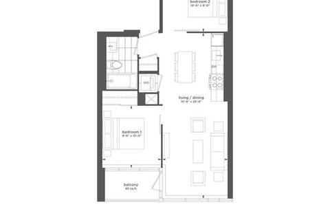 Apartment for rent at 15 Baseball Pl Unit 605 Toronto Ontario - MLS: E4607703