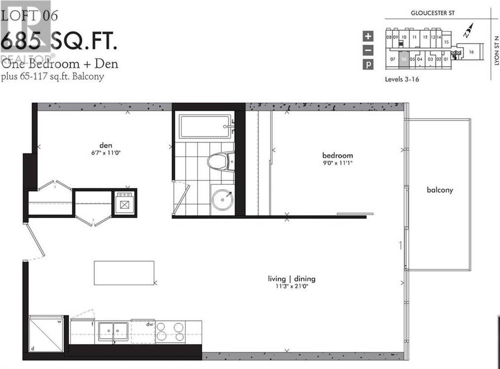 Apartment for rent at 224 Lyon St N Unit 606 Ottawa Ontario - MLS: 1187388