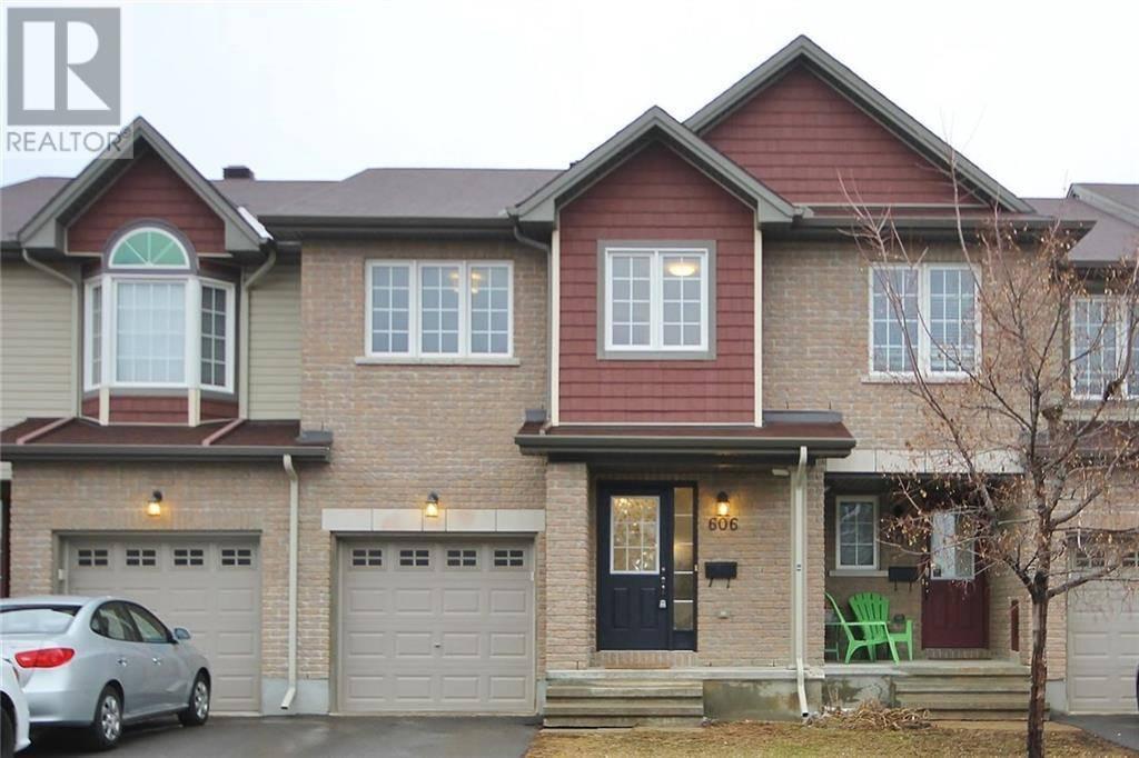Townhouse for sale at 606 Gazebo St Ottawa Ontario - MLS: 1187593