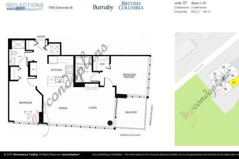 Condo for sale at 7090 Edmonds St Unit 607 Burnaby British Columbia - MLS: R2457399