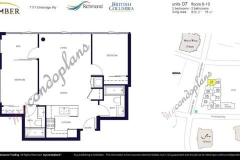 Condo for sale at 7117 Elmbridge Wy Unit 607 Richmond British Columbia - MLS: R2483477