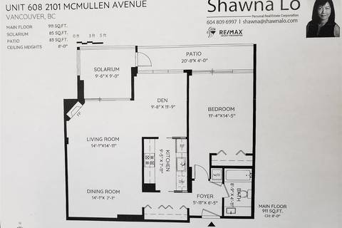 Condo for sale at 2101 Mcmullen Ave Unit 608 Vancouver British Columbia - MLS: R2417152