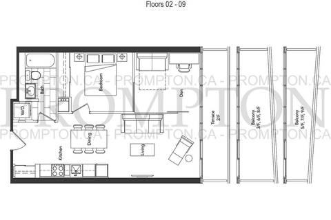 Apartment for rent at 90 Queens Wharf Rd Unit 608 Toronto Ontario - MLS: C4705398