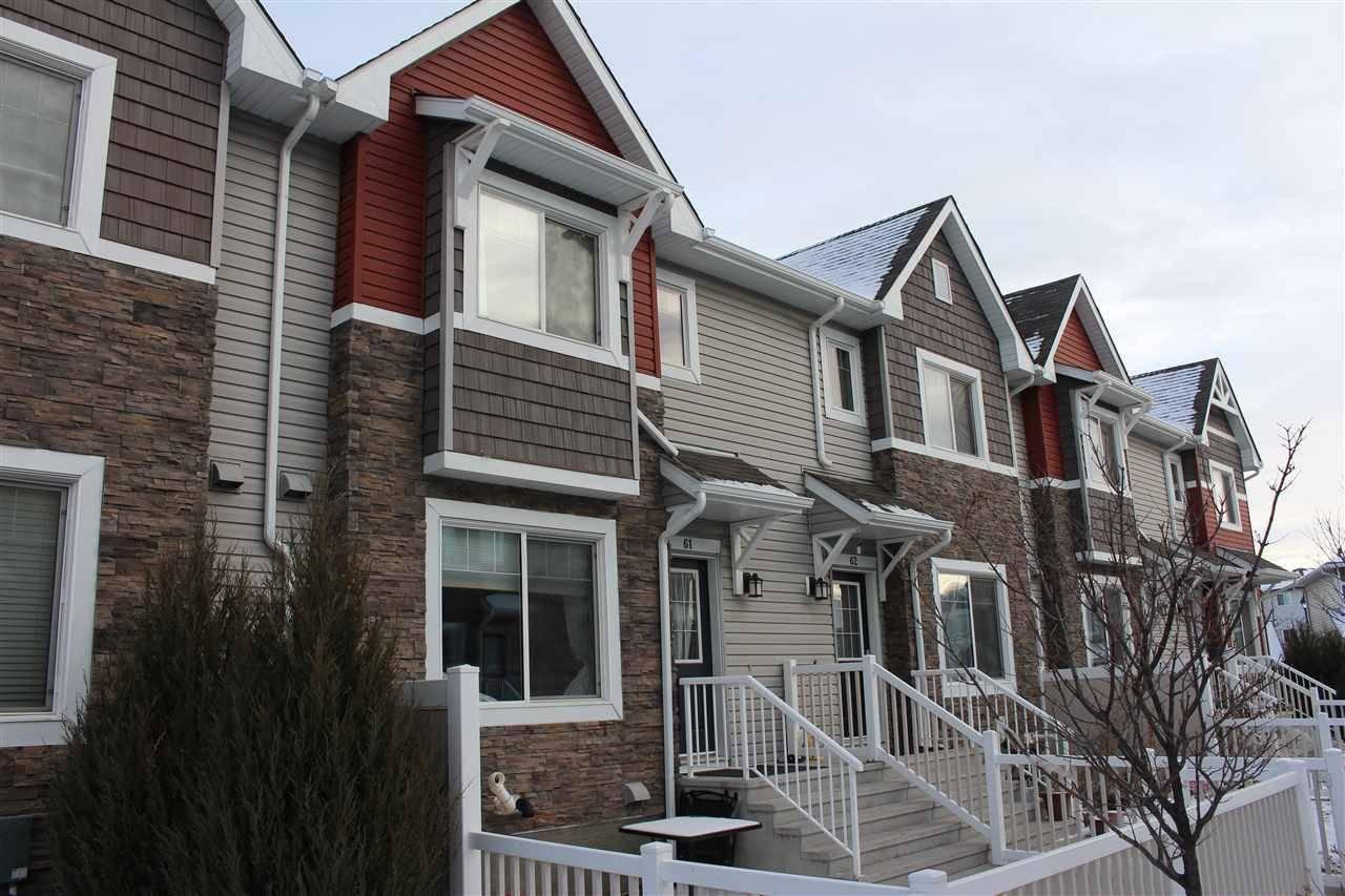 Townhouse for sale at 655 Tamarack Rd Nw Unit 61 Edmonton Alberta - MLS: E4181529