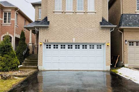 House for rent at 61 Futura Ave Richmond Hill Ontario - MLS: N4658200