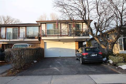 Townhouse for sale at 61 Heatherside Dr Toronto Ontario - MLS: E4713954