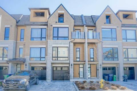 Townhouse for sale at 61 Kenneth Wood Cres Toronto Ontario - MLS: C4419912