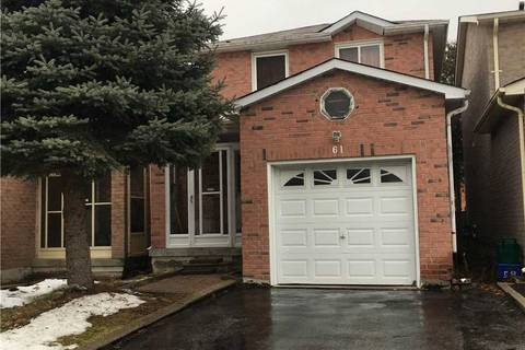 House for rent at 61 Sorrell Cres Markham Ontario - MLS: N4651699