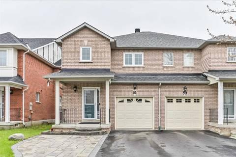 Townhouse for sale at 61 Warren Bradley St Markham Ontario - MLS: N4450486