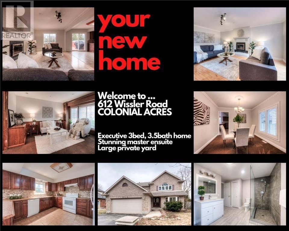 House for sale at 612 Wissler Rd Waterloo Ontario - MLS: 30801243