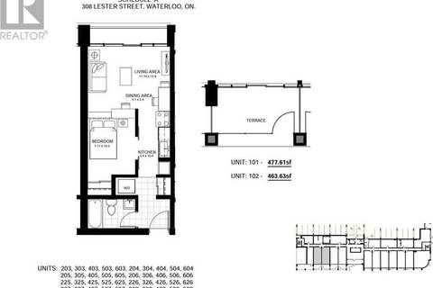 Condo for sale at 308 Lester St Unit 628 Waterloo Ontario - MLS: 30740432