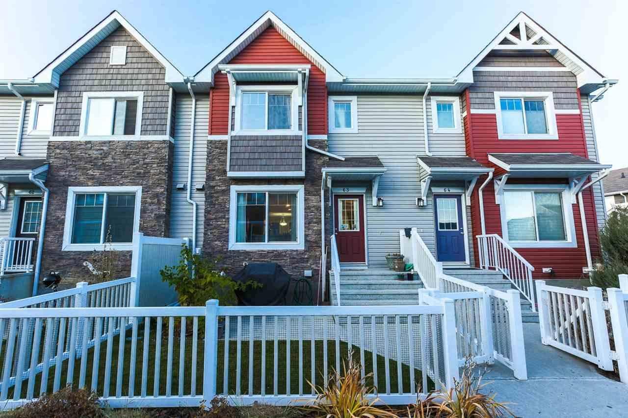 Townhouse for sale at 655 Tamarack Rd Nw Unit 63 Edmonton Alberta - MLS: E4177975