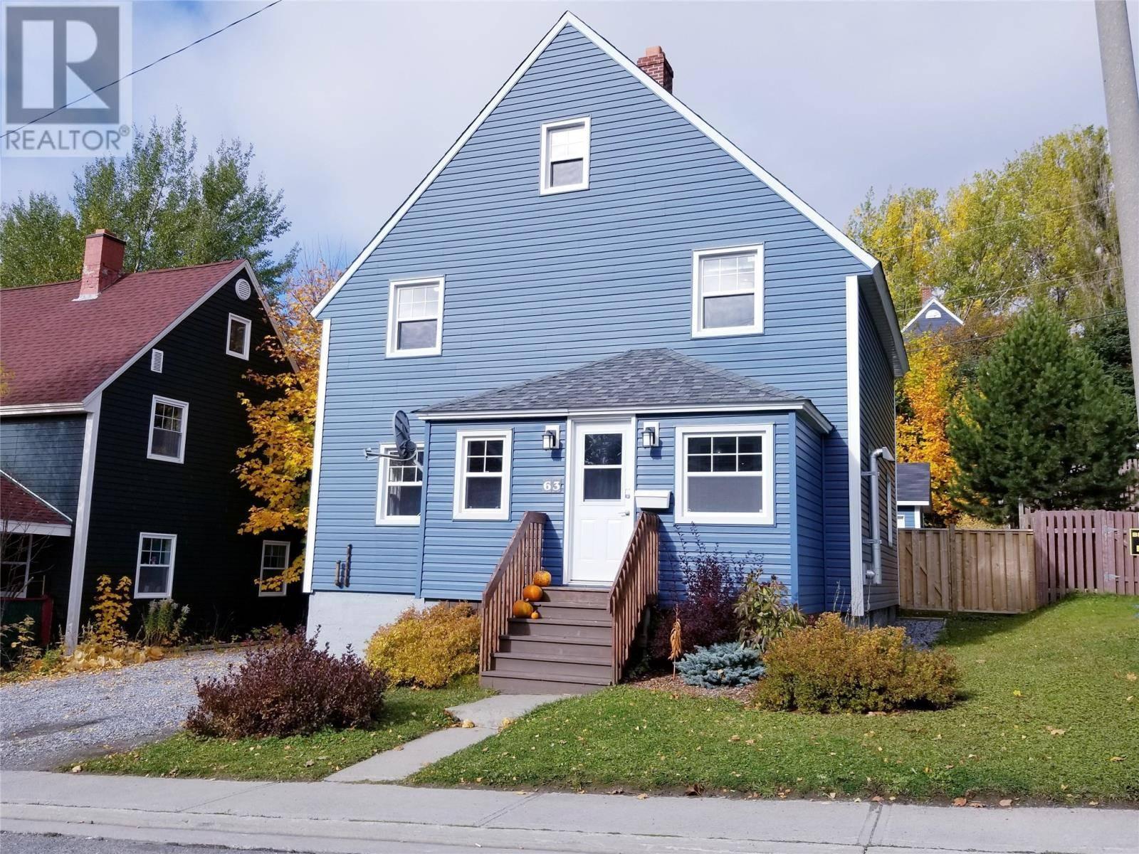 House for sale at 63 East Valley Rd Corner Brook Newfoundland - MLS: 1205418
