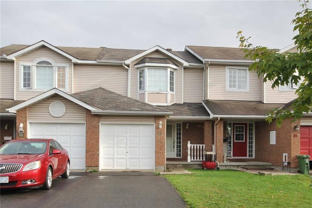 Townhouse for sale at 63 Jackman Te Ottawa Ontario - MLS: 1171075