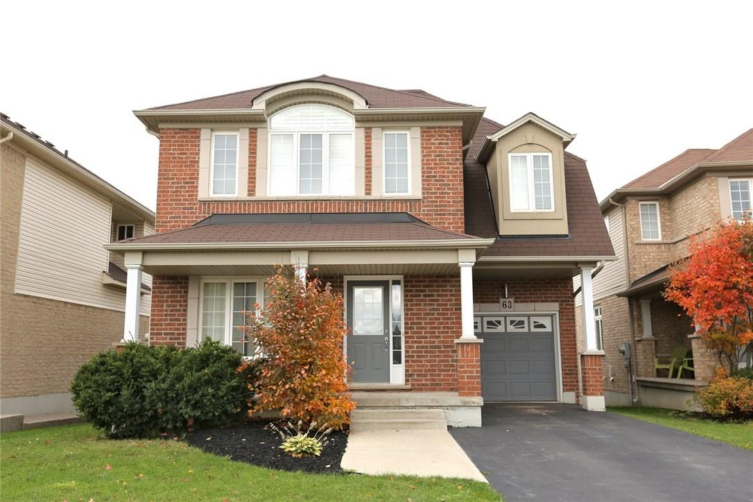 For Sale: 63 Waterberry Trail, Hamilton, ON   3 Bed, 3 Bath House for $619,900. See 25 photos!