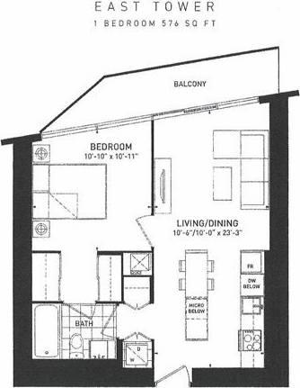 Apartment for rent at 88 Harbour St Unit 6303 Toronto Ontario - MLS: C4738238