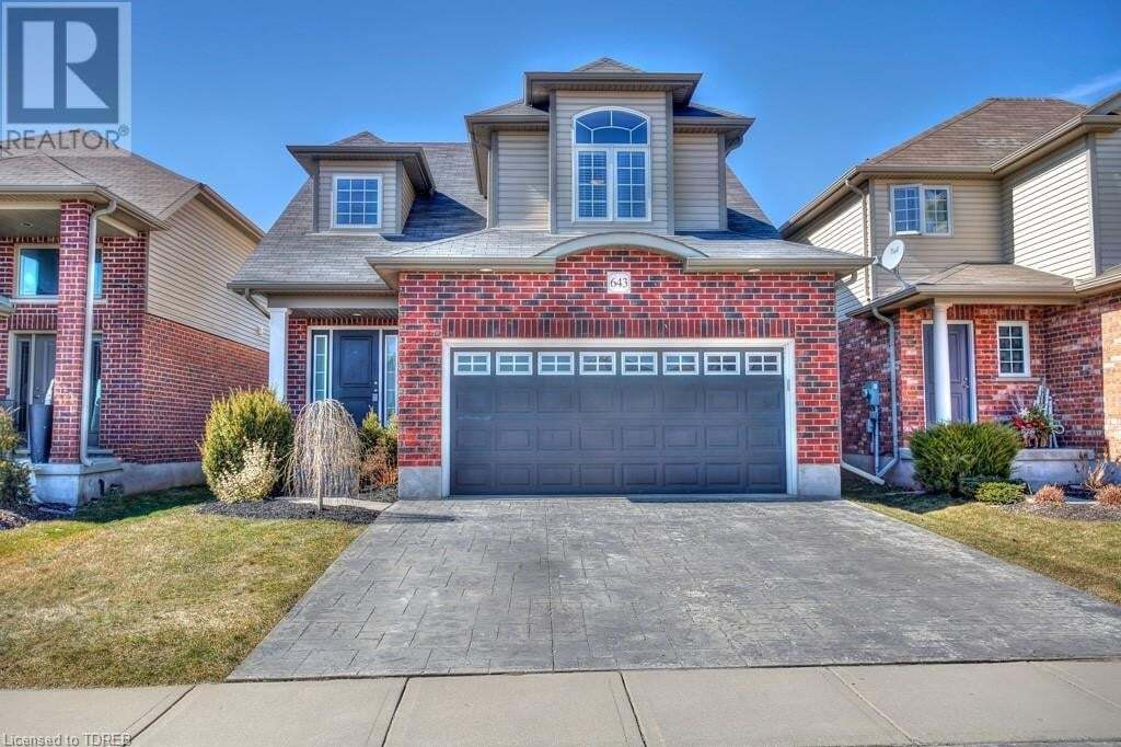 House for sale at 643 Frontenac Cres Woodstock Ontario - MLS: 251284