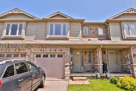 Townhouse for sale at 65 Escarpment Dr Hamilton Ontario - MLS: X4478623