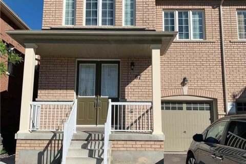 Townhouse for rent at 67 Vezna Cres Brampton Ontario - MLS: W4799782