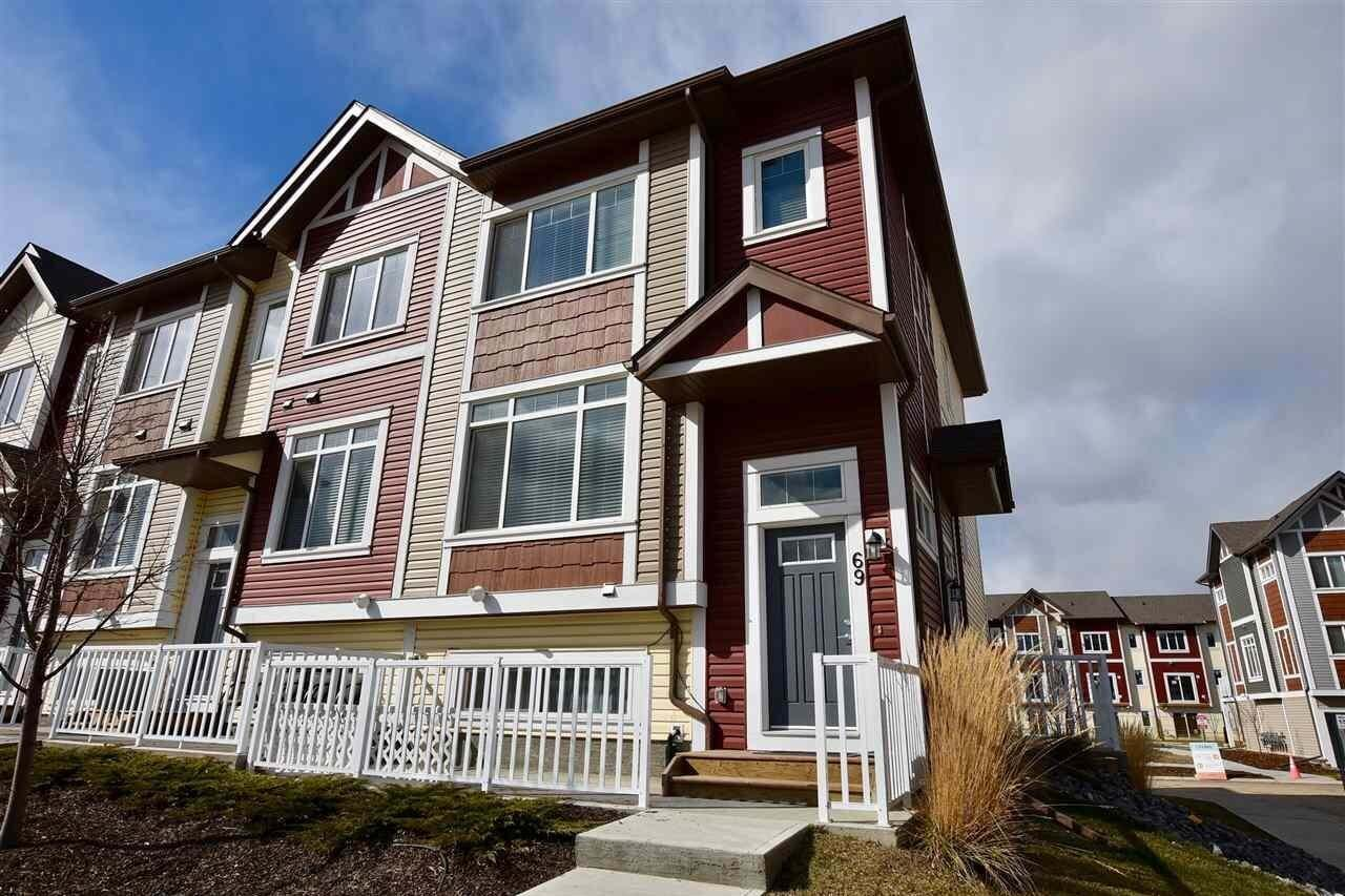 Townhouse for sale at 320 Secord Bv NW Unit 69 Edmonton Alberta - MLS: E4197617