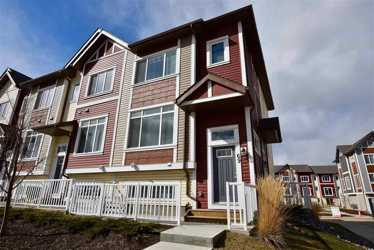 Townhouse for sale at 320 Secord Blvd Nw Unit 69 Edmonton Alberta - MLS: E4184078